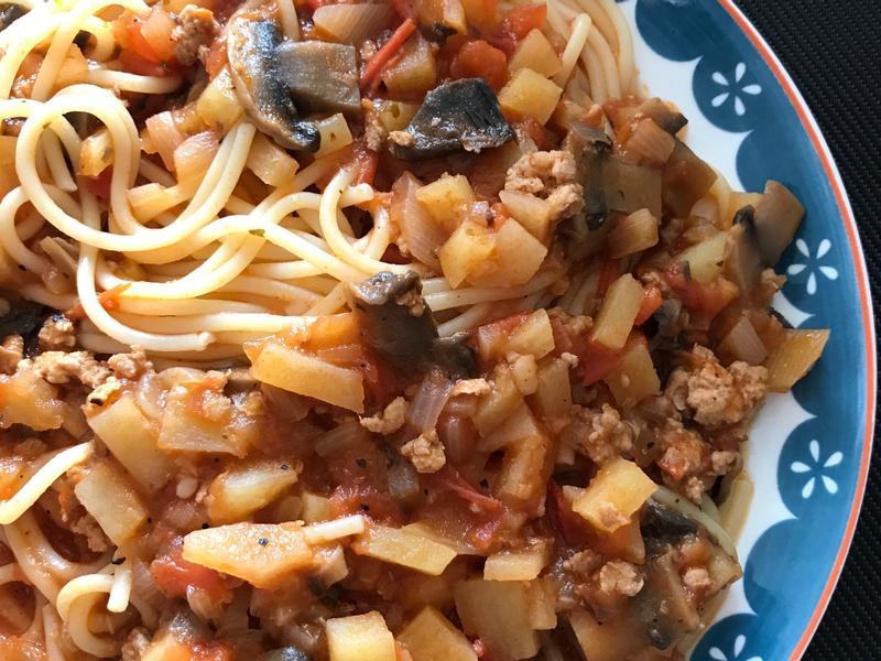 番茄肉醬意大利麵~酸甜開胃
