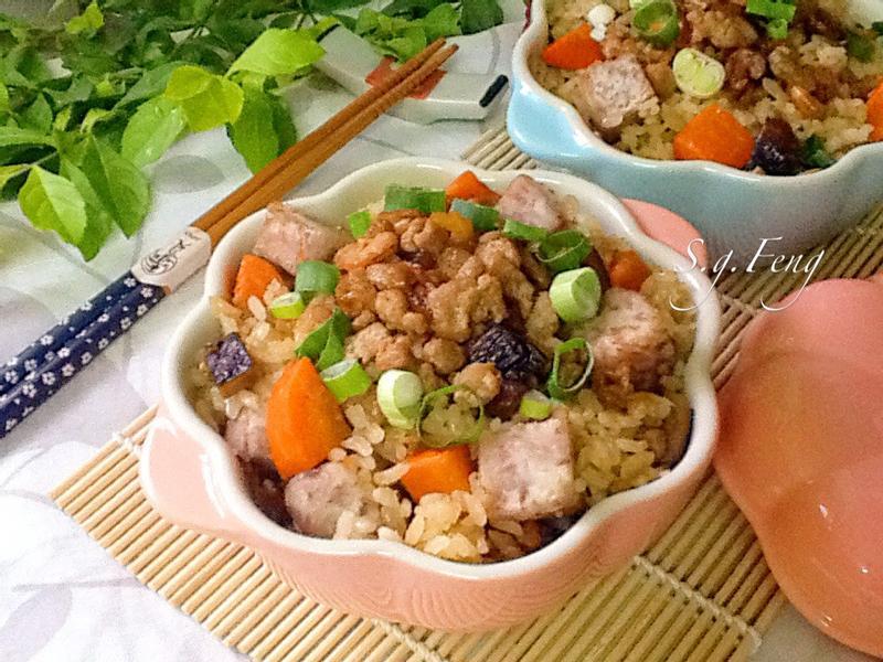 肉末芋頭炊飯(電鍋版)[台糖安心䐁]