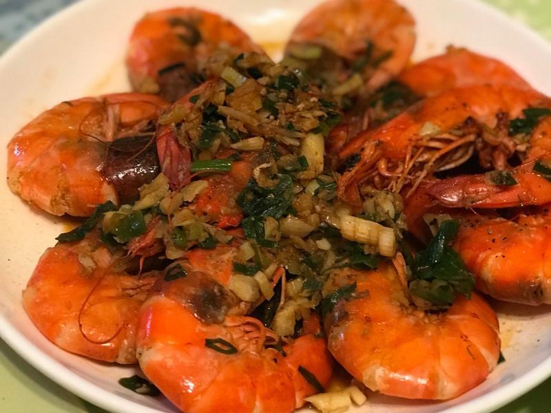 香蒜紅燒蕃茄蝦