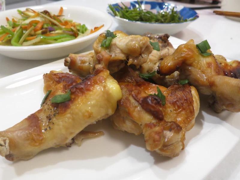 水波爐製作蔥燒雞腿