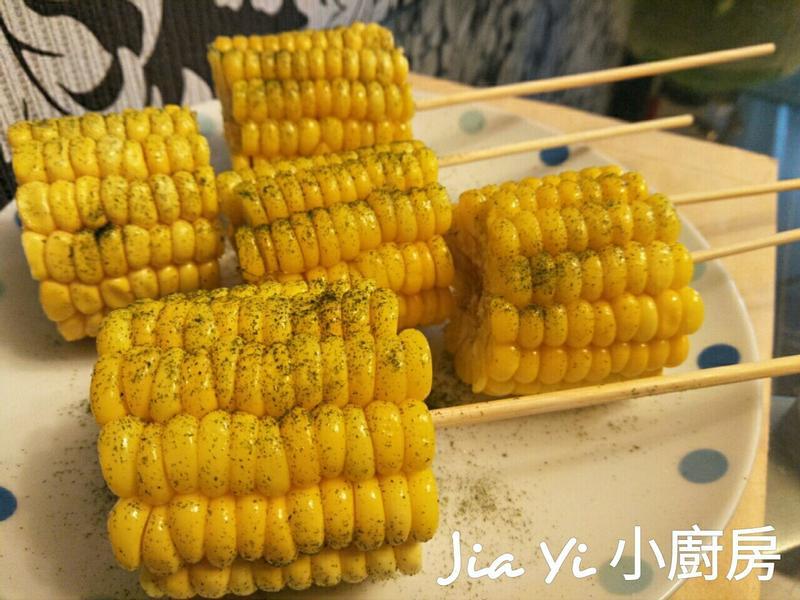 奶油烤玉米