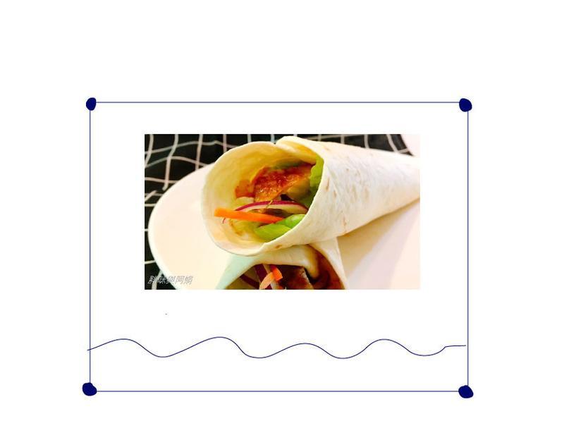 墨西哥莎莎醬迷迭香雞腿排捲餅