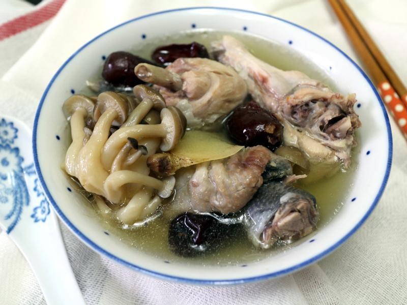 紅棗菇菇雞湯