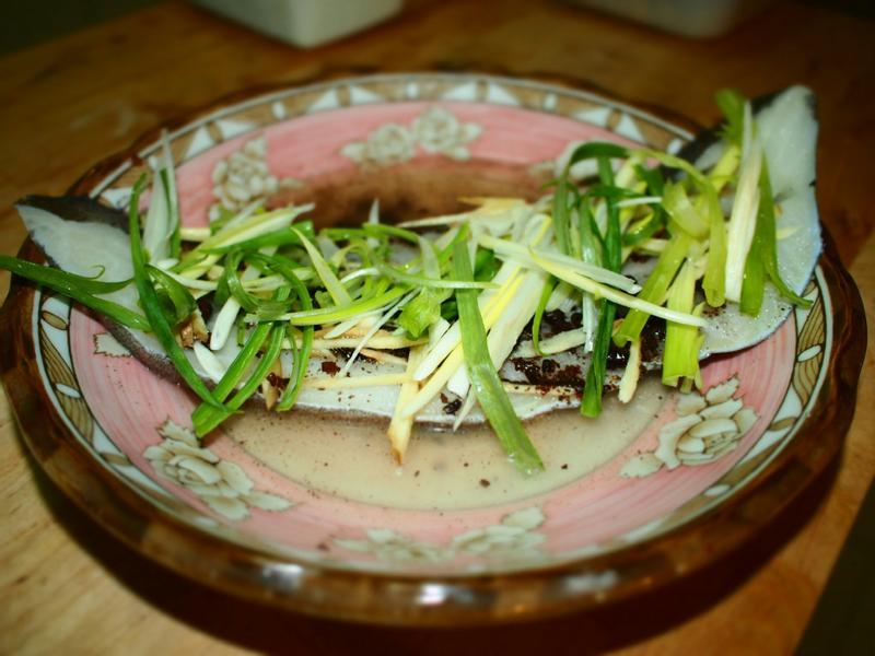 白酒蒸鱈魚