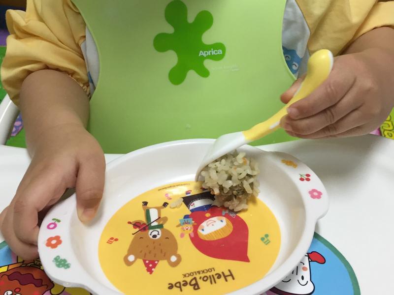 小皇冠的寶寶餐-白米珍珠丸子