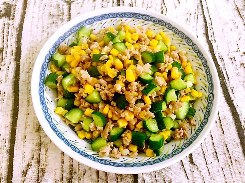 玉米黃瓜丁炒絞肉