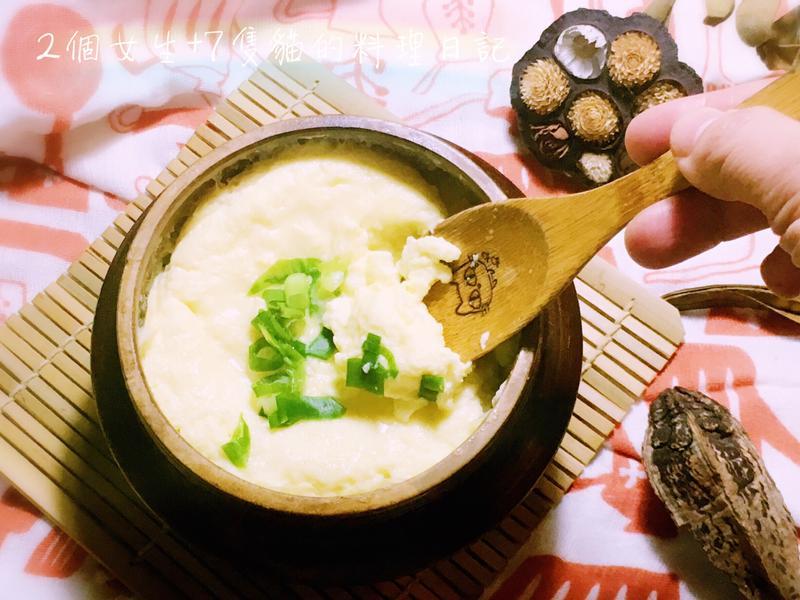 3種食材3分鐘完成韓式水蒸蛋
