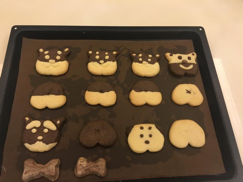 雙色狗狗創意餅乾