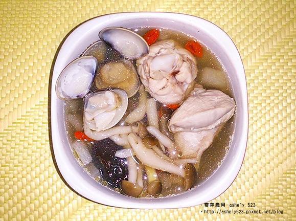 鮮菇蛤蠣雞湯