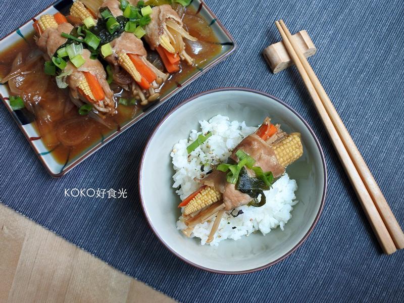 和風金針菇野菜豬肉卷