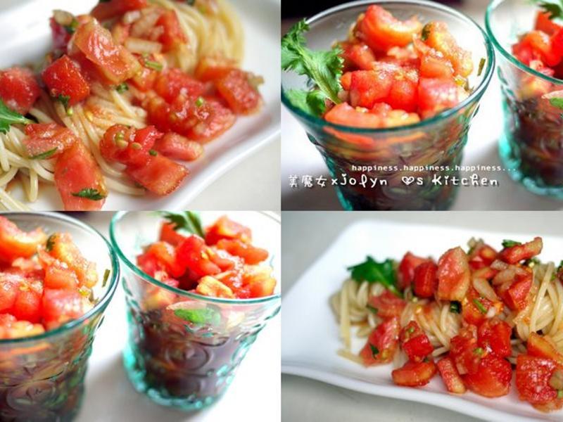 ♫【義大利番茄沙拉天使冷麵】