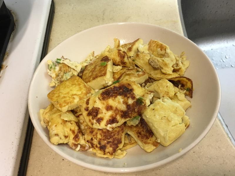 雞蛋豆腐蔥花蛋煎
