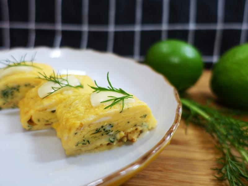 起士茴香玉子燒(魔化火腿蛋)