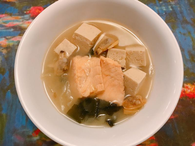 凍豆腐鮭魚味增湯