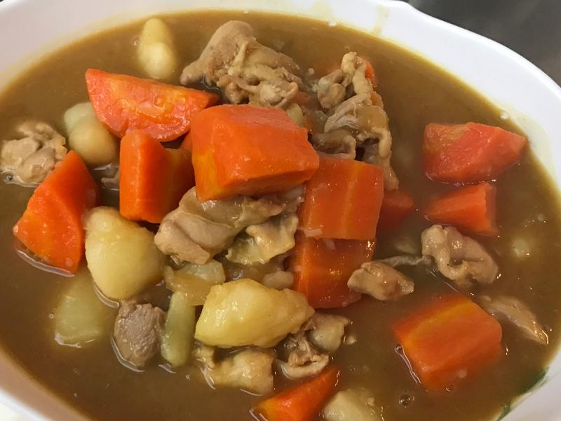 佛蒙特咖喱雞腿飯(親子料理)