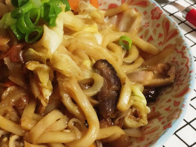*一人簡單料理*日式櫻花蝦炒烏龍