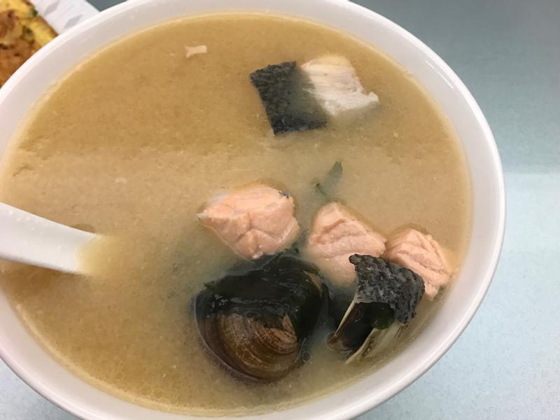 日式鮭魚蛤蠣味增湯