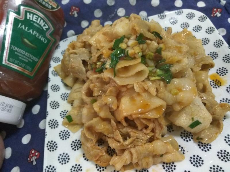 無油料理─十分鐘上菜─茄香炒肉片