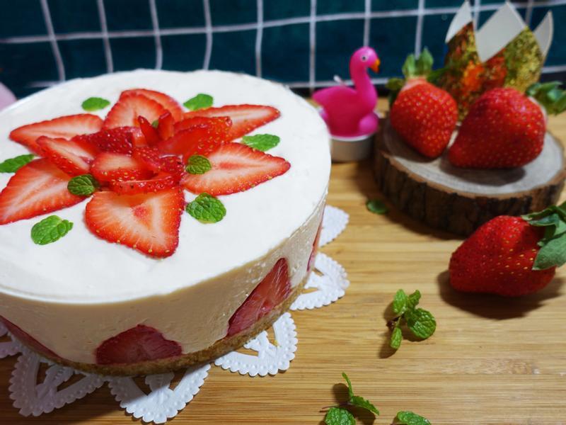 草莓花花生乳酪(美味的變異點心)