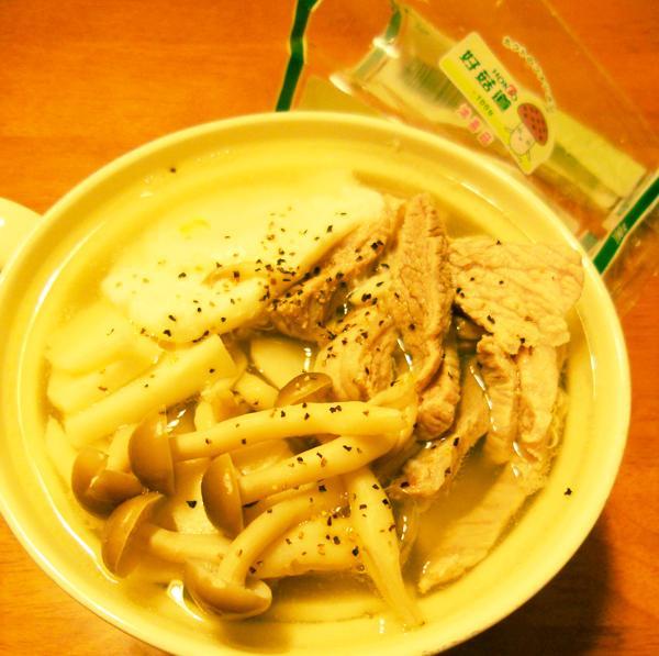 好菇道菇idea-菇菇竹筍蛤蜊湯麵