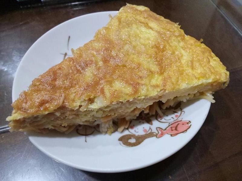 麻油雞蛋麵線煎