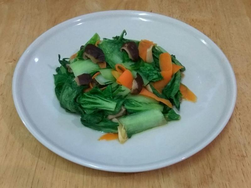 胡蘿蔔香菇小白菜