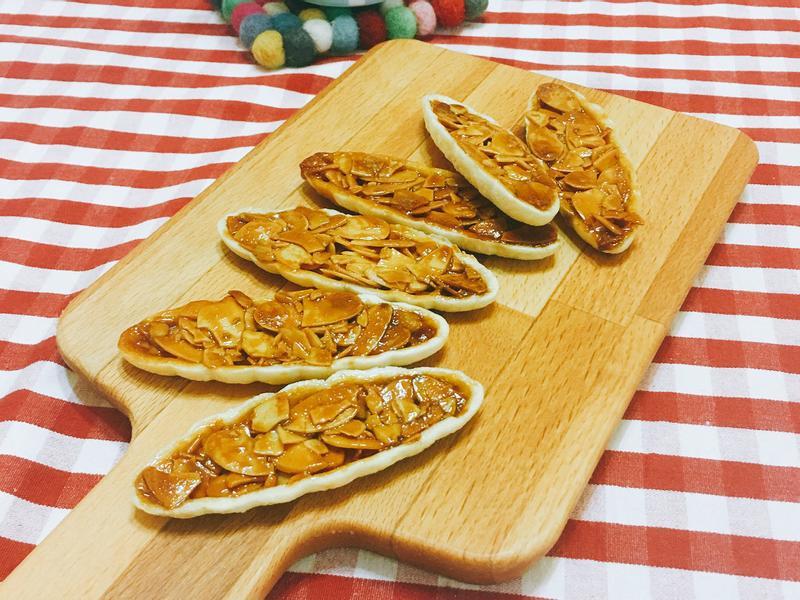 焦糖脆口杏仁船型餅