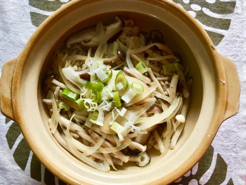 野菇炊飯-糙米電鍋版