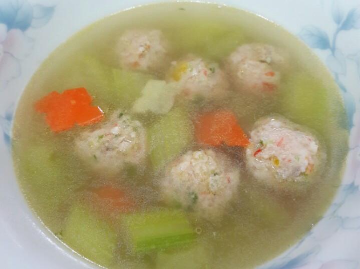 蝦丸蔬菜片湯   年菜  宴客菜