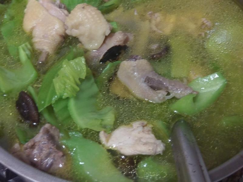 かにの芥菜雞湯