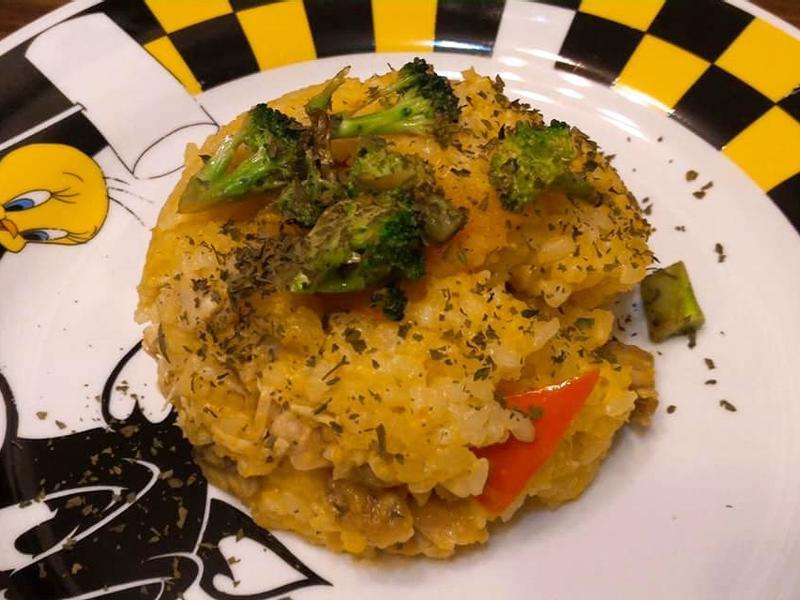 蘑菇雞肉南瓜燉飯