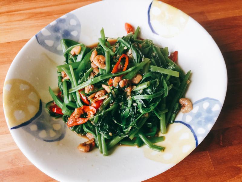 空心菜炒蝦米