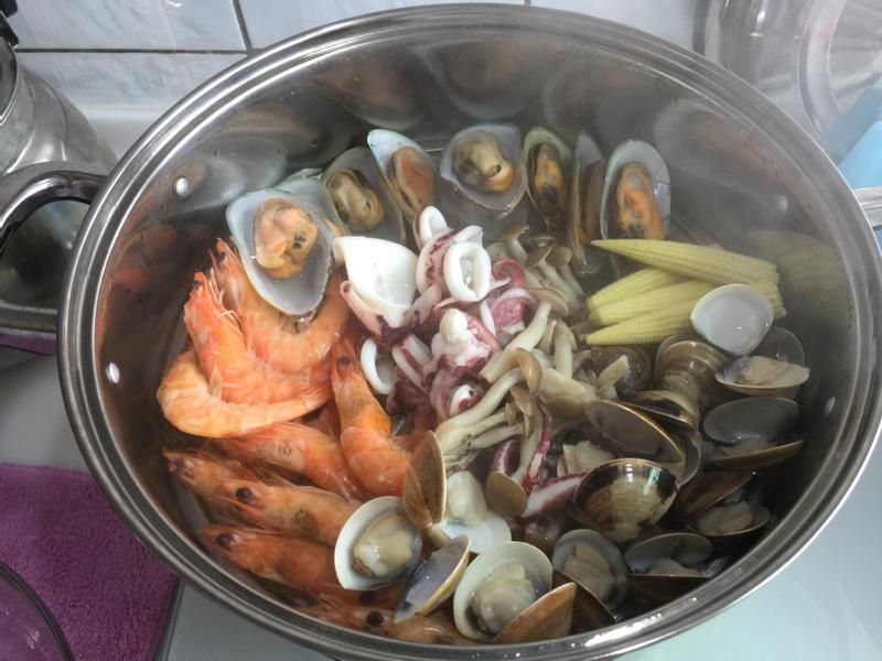 蒸海鮮+海鮮粥