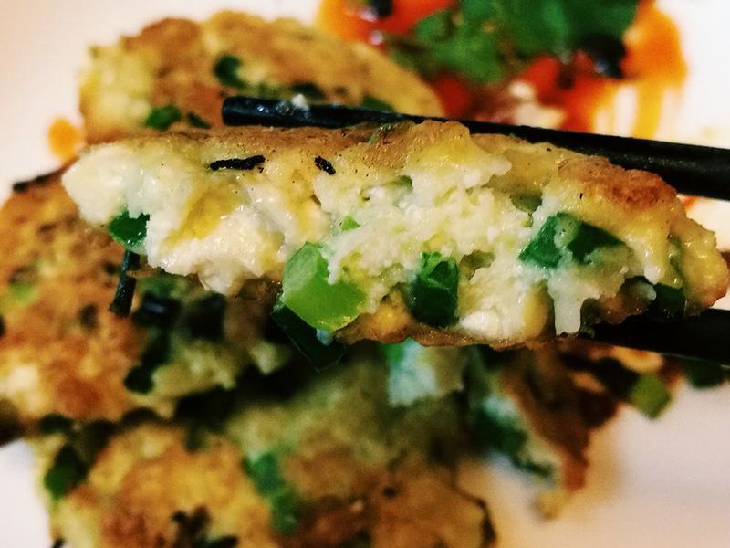 韭菜豆腐餅