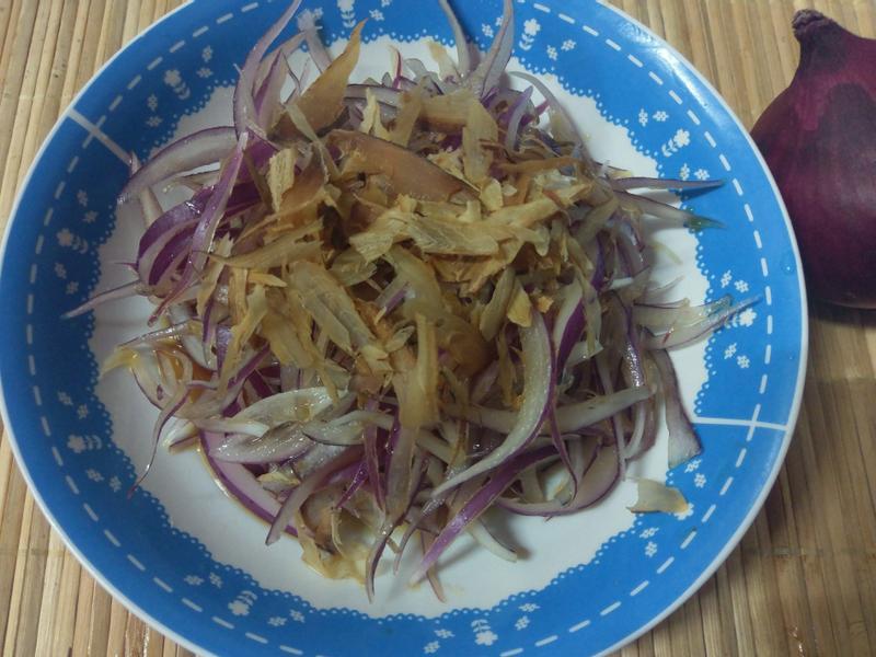 かにの和風紫洋蔥