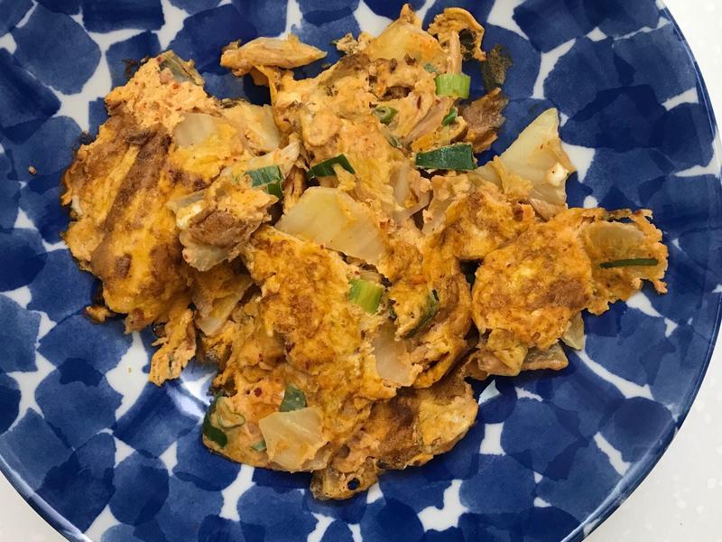お弁当180313-韓式泡菜煎蛋