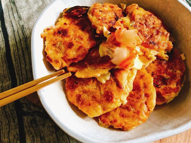 泡菜鮪魚蔥煎餅