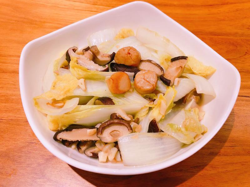 日式香菇娃娃菜