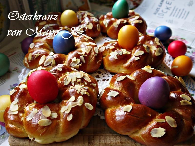 復活節花圈麵包