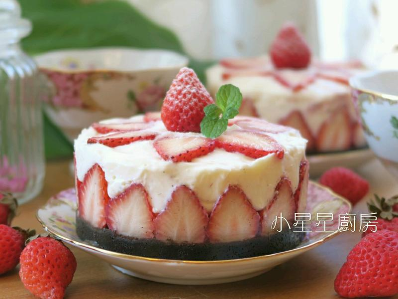 特濃草莓生乳酪蛋糕(免烤箱,素食版)