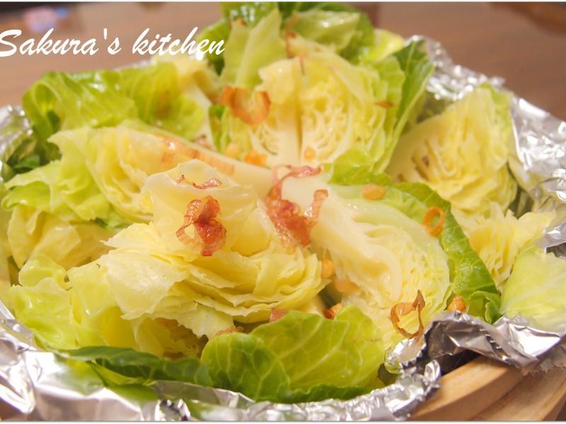 ♥我的手作料理♥ 清蒸高麗菜苗