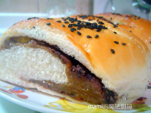 紅豆黑糖麻糬麵包*自製黑糖麻糬放涼不變硬