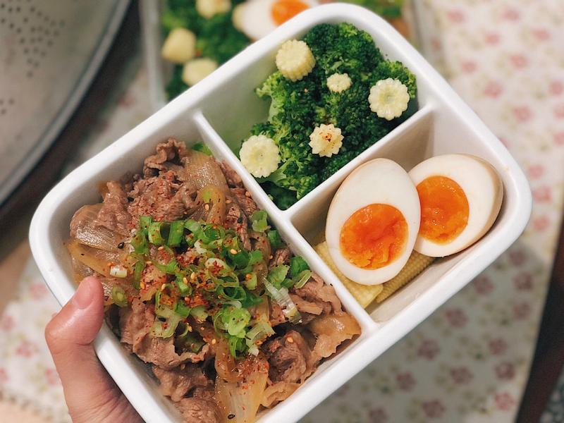 壽喜燒牛丼(便當菜)