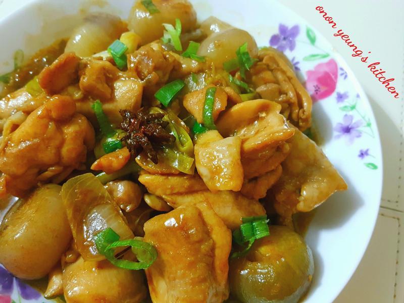香蔥油酒香燒雞 簡易家常菜。冬日暖意