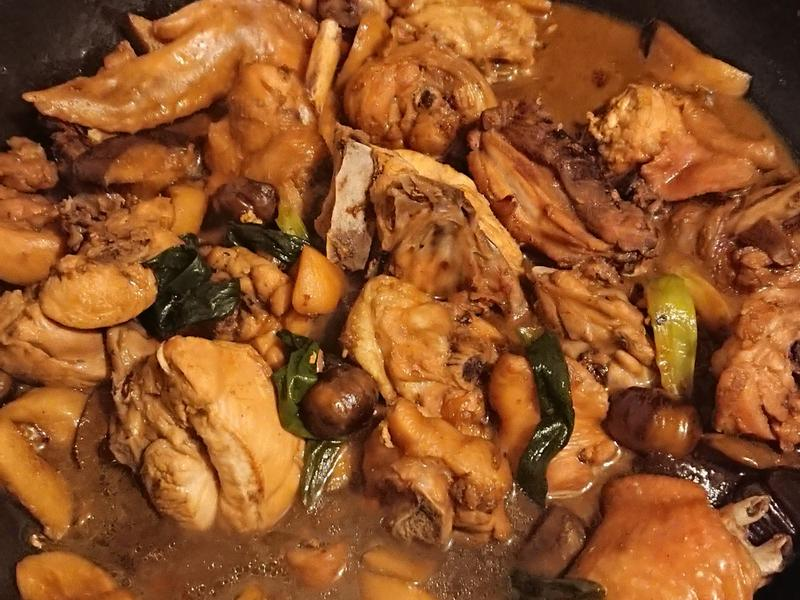 栗子杏鮑菇燒雞