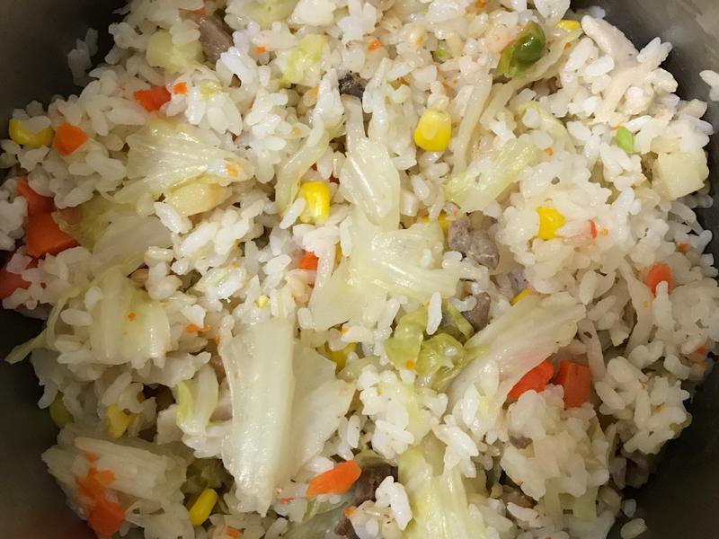 懶人電子鍋料理、高麗菜炊飯