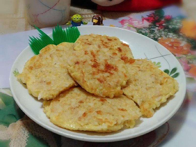 乳酪蛋煎飯~剩飯變美食