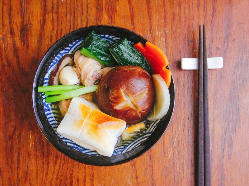 豐年農場・香菇年糕雞湯(お雑煮)
