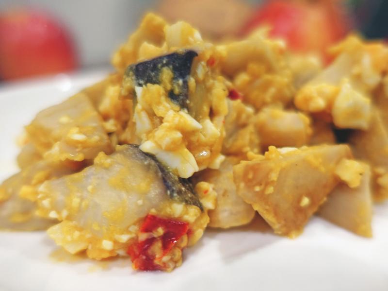 電磁爐料理-金沙杏鮑菇