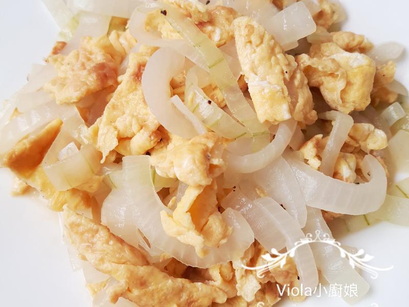 洋蔥黑胡椒炒蛋